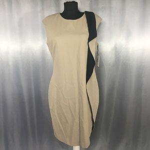 Calvin Klein womens pleat drape dress